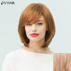 Siv Hair Medium Side Bang Layered Bob Straight Human Hair Wig