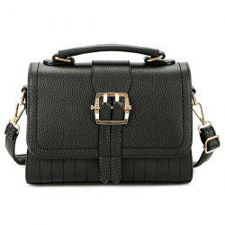 Buckle Strap Faux Leather Crossbody Bag
