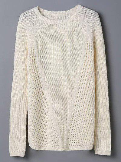 Outfits Crew Neck Hollow Out Jumper