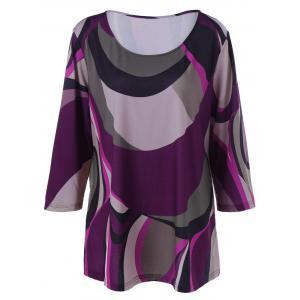 Plus Size Abstract Print T-Shirt