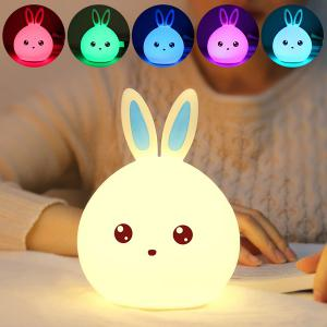 Cartoon Colorful Rabbit LED Touch Table Night Light - White - W55 Inch * L78 Inch
