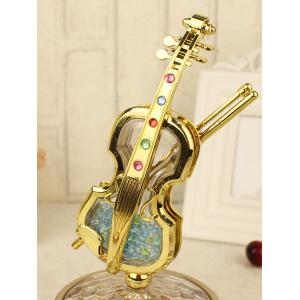 Violin Rotation Music Box Décoration Anniversaire Saint-Valentin cadeau - Or