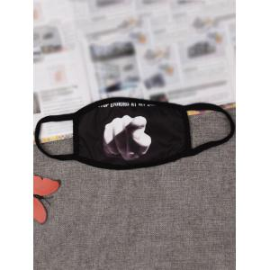 Hip Hop Anti Dust and Haze Mouth Mask - Black
