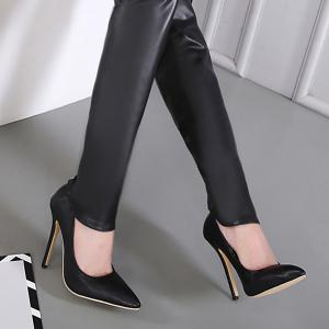 Convertible Faux Leather Pumps