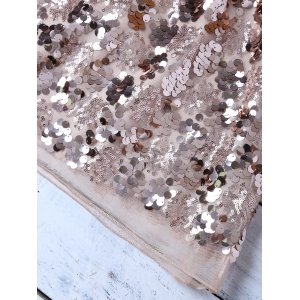 Sequines Mini-jupe - Champagne Or S