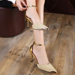 Metal Toe Two Piece Pumps -