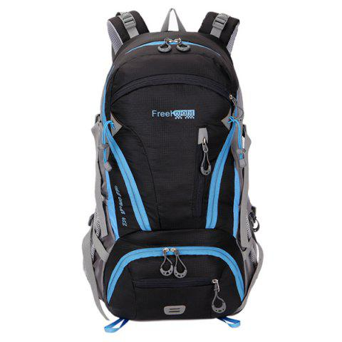 Outfit Multi Zips Nylon 45L Mountaineering Backpack - BLACK  Mobile