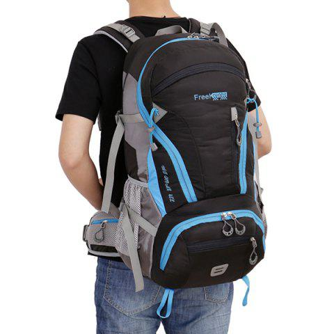 Affordable Multi Zips Nylon 45L Mountaineering Backpack - BLACK  Mobile