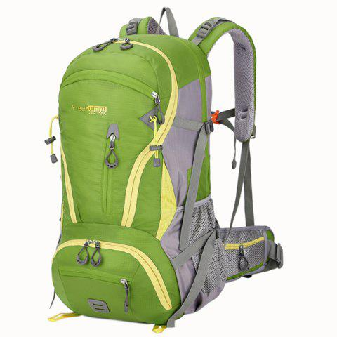 Chic Multi Zips Nylon 45L Mountaineering Backpack - CRYSTAL GREEN  Mobile