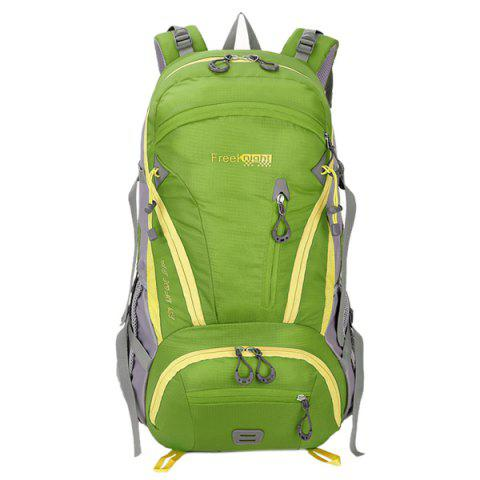 Discount Multi Zips Nylon 45L Mountaineering Backpack - CRYSTAL GREEN  Mobile