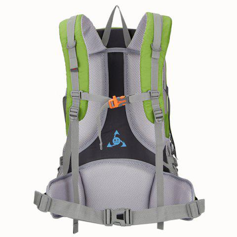 Affordable Multi Zips Nylon 45L Mountaineering Backpack - CRYSTAL GREEN  Mobile