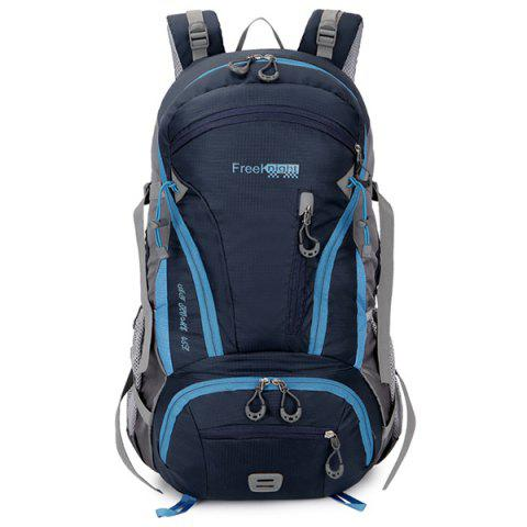 Affordable Multi Zips Nylon 45L Mountaineering Backpack - DEEP BLUE  Mobile
