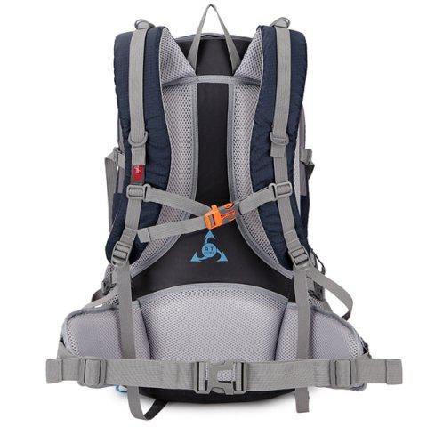 New Multi Zips Nylon 45L Mountaineering Backpack - DEEP BLUE  Mobile