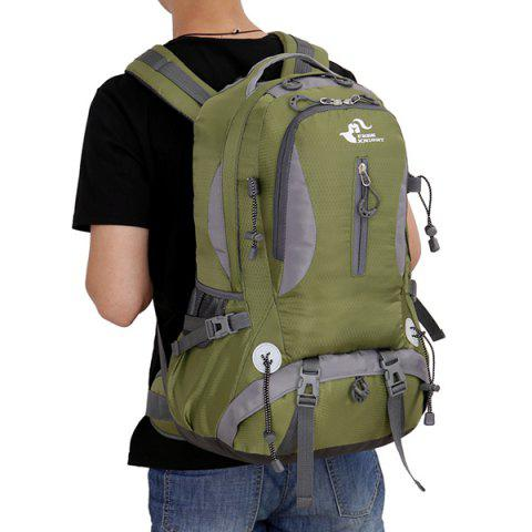 Unique Nylon Waterproof 40L Mountaineering Backpack - ARMY GREEN  Mobile