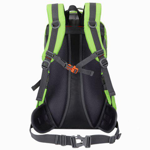 Unique Nylon Waterproof 40L Mountaineering Backpack - CRYSTAL GREEN  Mobile
