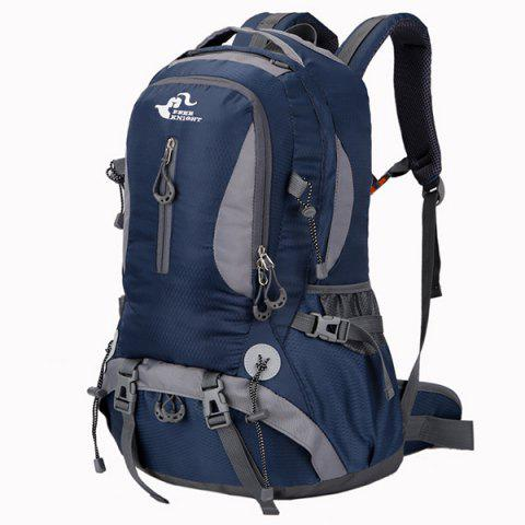 Outfits Nylon Waterproof 40L Mountaineering Backpack - DEEP BLUE  Mobile
