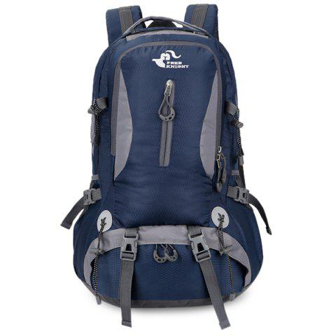 Unique Nylon Waterproof 40L Mountaineering Backpack - DEEP BLUE  Mobile