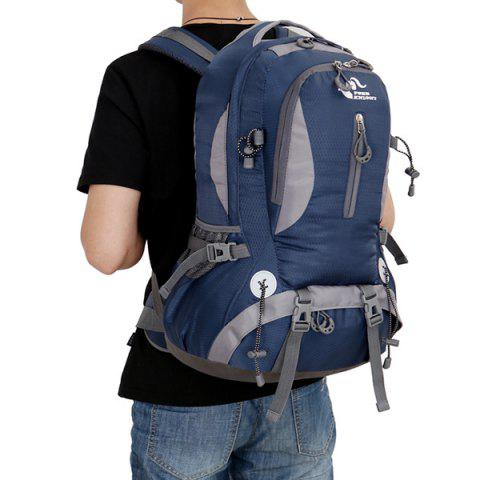 Sale Nylon Waterproof 40L Mountaineering Backpack - DEEP BLUE  Mobile