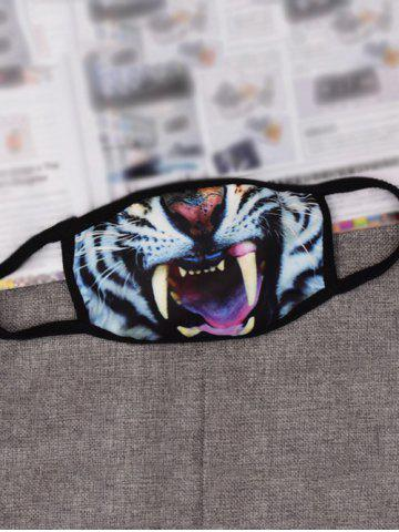 Hot Animal Printed Anti Dust and Haze Mouth Mask - WHITE AND BLACK  Mobile