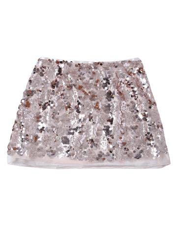 Buy Sequins Mini Skirt - XL CHAMPAGNE GOLD Mobile