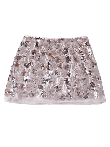 Fashion Sequins Mini Skirt - M CHAMPAGNE GOLD Mobile