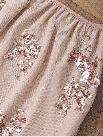 Latest Sequin A Line Skirt - S PINKBEIGE Mobile