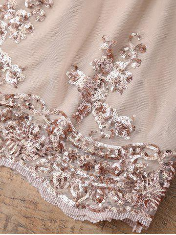 Chic Sequin A Line Skirt - S PINKBEIGE Mobile