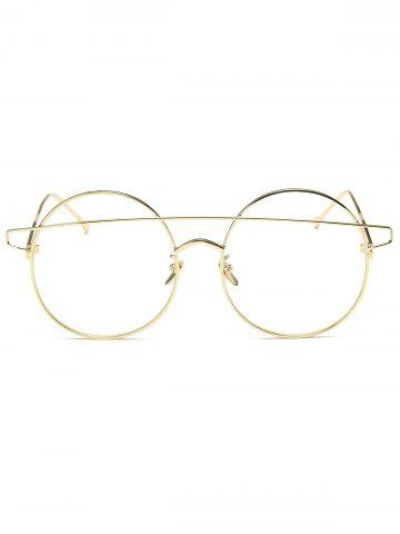Buy Transparent Lens Alloy Crossover Round Sunglasses - GOLDEN  Mobile
