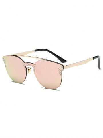 Affordable Rhombus Pattern Mirrored Butterfly Cat Eye Sunglasses LIGHT PINK