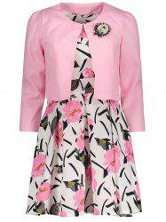 Floral Print Dress and Jacket Twinset