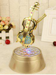 Violin Rotation Music Box Decoration Birthday Valentine Gift