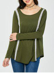 Lacework Long Sleeve Tunic T-Shirt