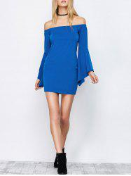 Off-The-Shoulder Bell Sleeve Bardot Party Bodycon Dress