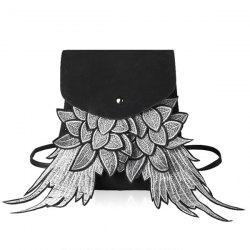 Flap Suede Winged Backpack
