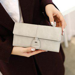 Long Clutch Trifold Wallet