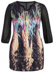 Plus Size Printed Beaded Dress