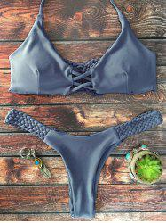 Cami High Leg Braided Bikini Set