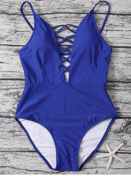 Cami Lace-Up Strappy One-Piece Swimwear