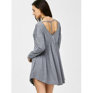 Casual Ruched Cut Out Mini Dress -