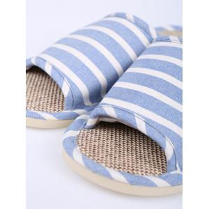 Cotton Fabric Striped House Slippers - LIGHT BLUE SIZE(37-38)