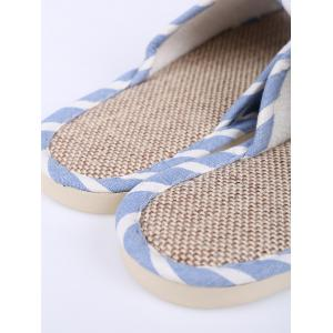 Cotton Fabric Striped House Slippers - LIGHT BLUE SIZE(39-40)
