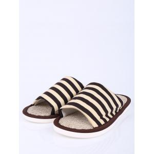 Stripes Color Block House Slippers -