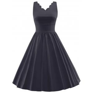 Scalloped A Line Cocktail Dress