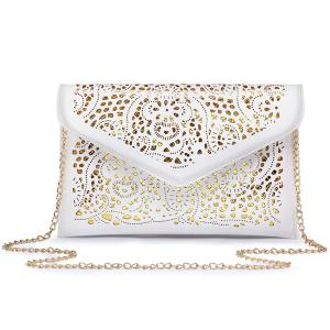 Laser Cut Crossbody Bag - White