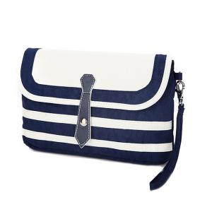 Nylon Striped Crossbody Bag -