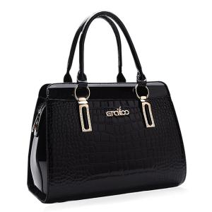 Embossed Faux Leather Tote Bag