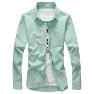 Plus Size Pocket Long Sleeve Shirt