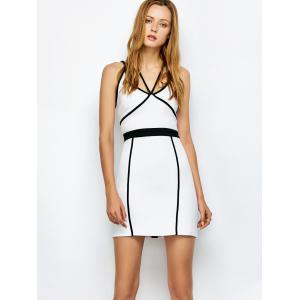 Piping Bandage Strap Bodycon Tank Dress