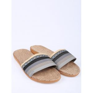 Striped Ombre House Slippers -