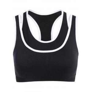 Layered Mesh Insert Sports Running Bra